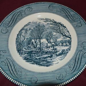 Currier & Ives Blue - Dinner - No markings 1of2